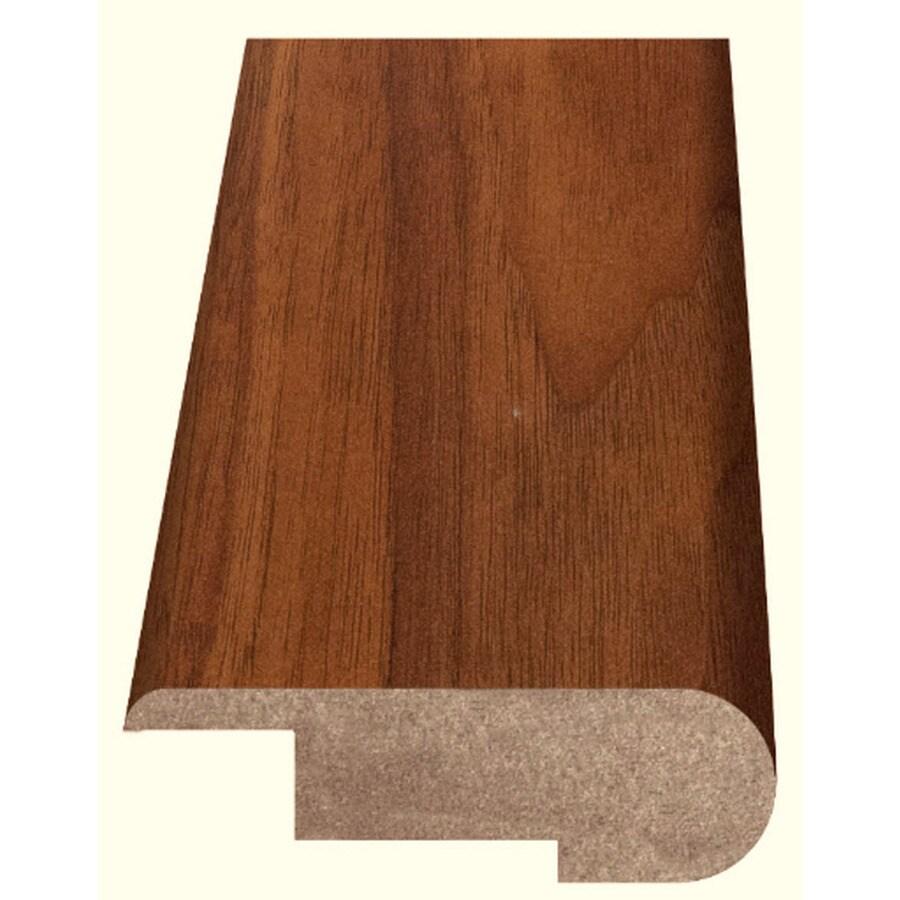 Style Selections 2.37-in x 94-in Brown Walnut Woodgrain Stair Nose Floor Moulding