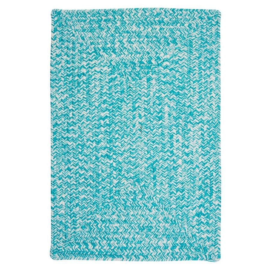 Colonial Mills Catalina 12 X 15 Aquatic Indoor Outdoor Geometric Coastal Handcrafted Area Rug In The Rugs Department At Lowes Com