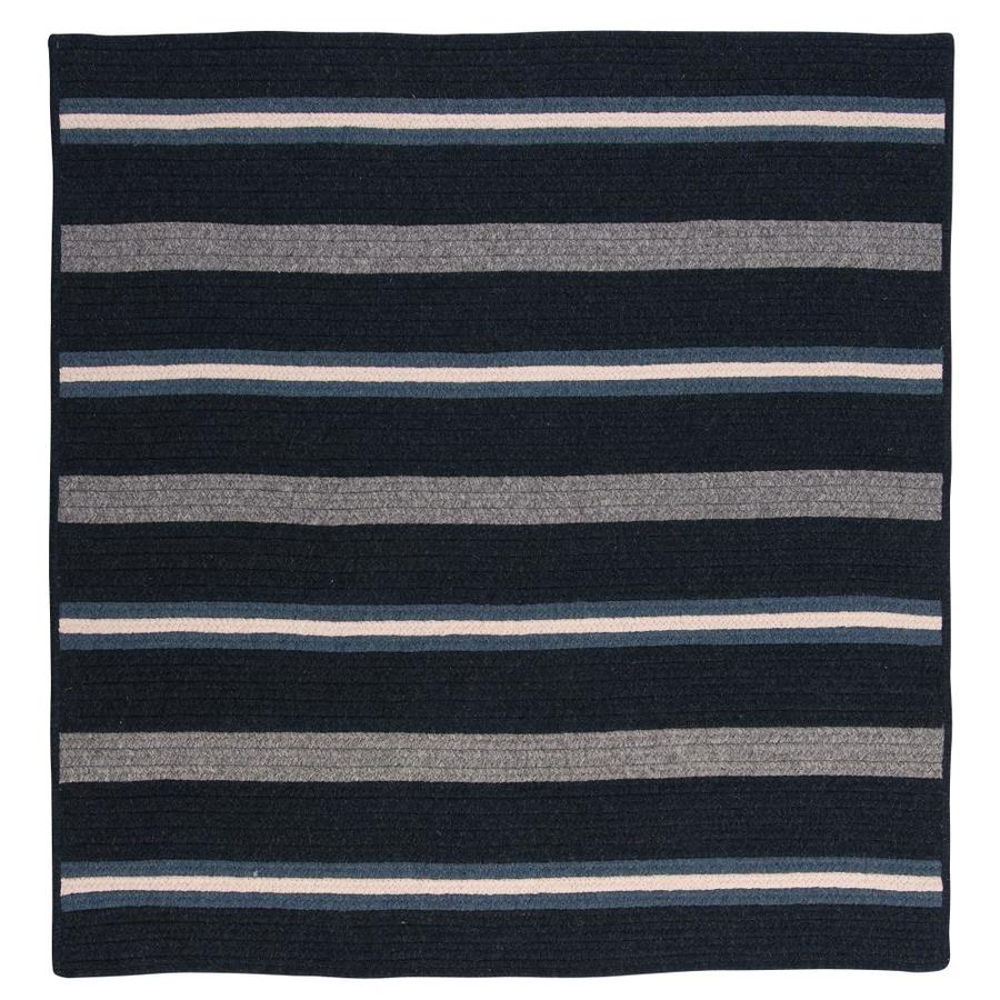 Colonial Mills Salisbury Navy Square Indoor Handcrafted Mid Century Modern Area Rug Common 10 X Actual Ft W L