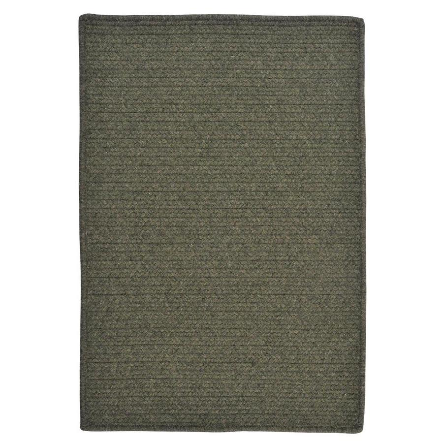 Colonial Mills Courtyard Olive Indoor Handcrafted Area Rug Common