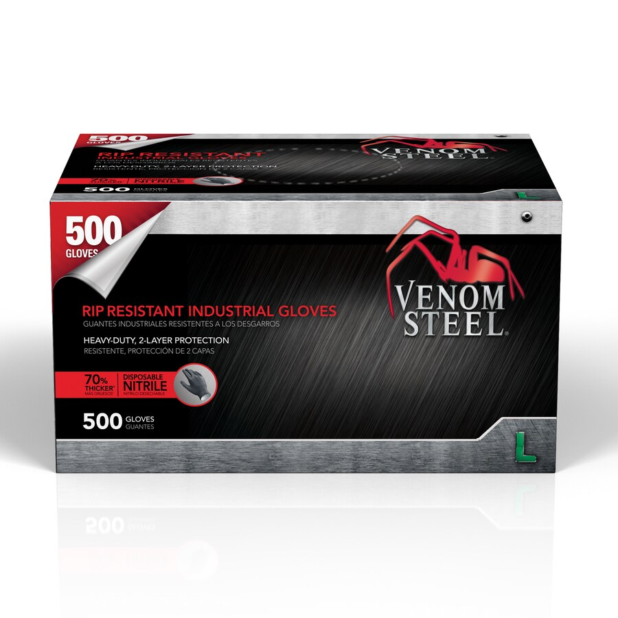 Venom Steel 500-Count Large Nitrile Cleaning Gloves