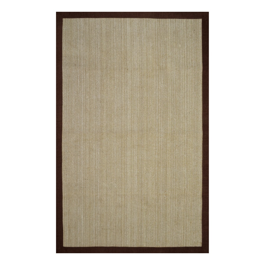 Allen + Roth Brown Rectangular Indoor Machine Made Area Rug (Common: 5 X