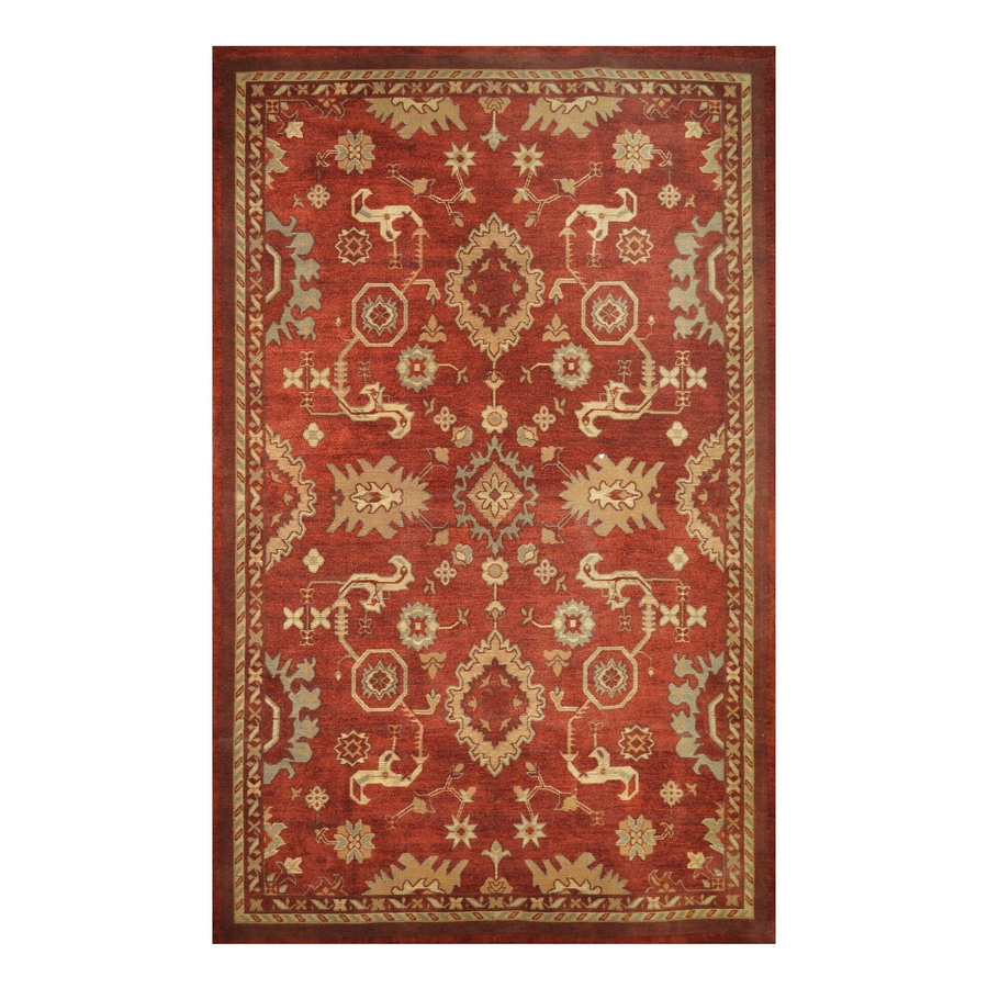 allen + roth Red Rectangular Indoor Woven Area Rug (Common: 5 x 8; Actual: 60-in W x 93-in L)
