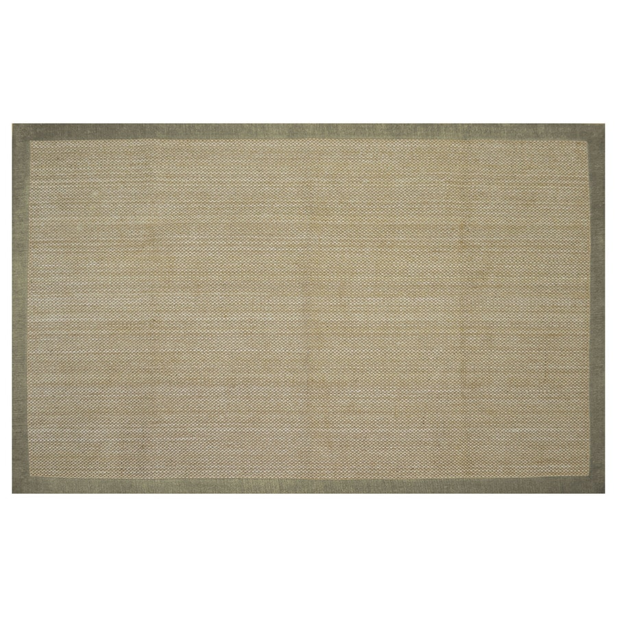 allen + roth Northbridge Maple/Aqua Rectangular Indoor Handcrafted Area Rug (Common: 5 x 8; Actual: 5-ft W x 7.75-ft L)