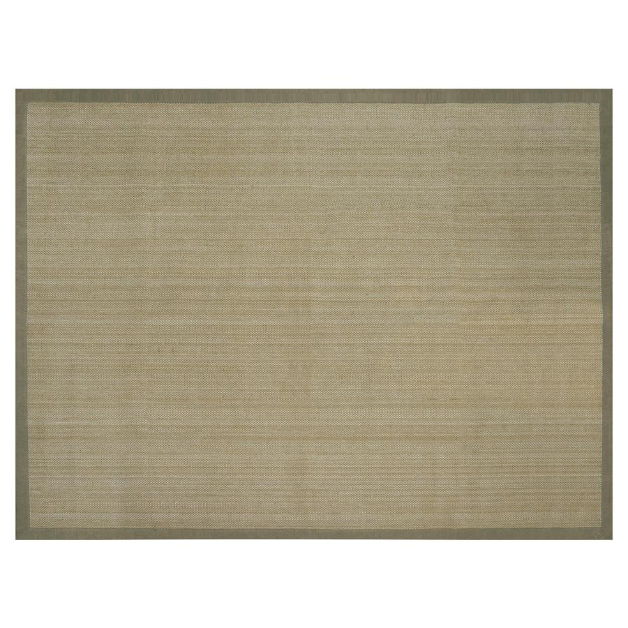 allen + roth Northbridge Maple/Aqua Rectangular Indoor Handcrafted Area Rug (Common: 9 x 12; Actual: 9-ft W x 12-ft L)