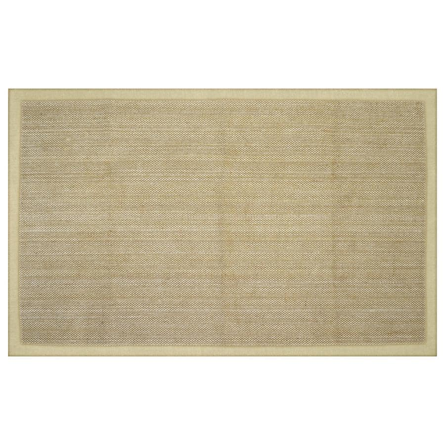 allen + roth Northbridge Bay Natural Rectangular Indoor Woven Area Rug (Common: 5 x 8; Actual: 5-ft W x 7.75-ft L)