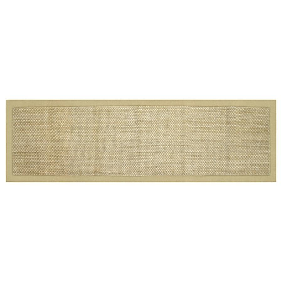 allen + roth Northbridge Bay natural Rectangular Indoor Handcrafted Runner (Common: 2 x 8; Actual: 2-ft W x 7.5-ft L)