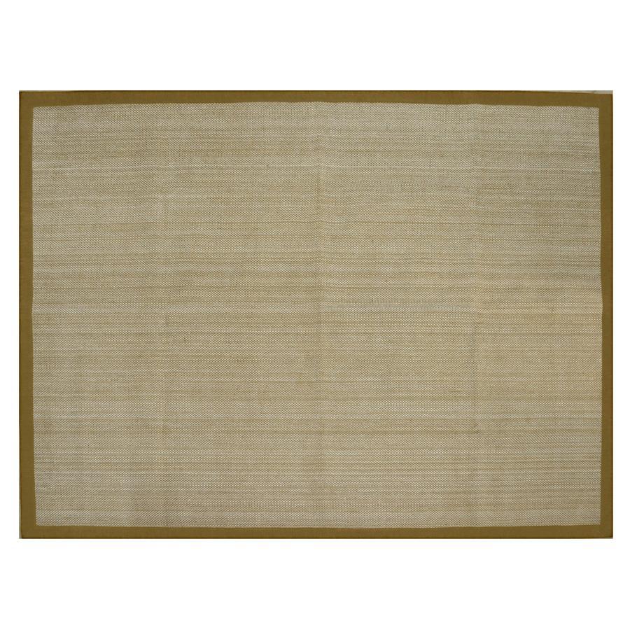 allen + roth Northbridge New Gold Rectangular Indoor Woven Area Rug (Common: 8 x 11; Actual: 96-in W x 126-in L)