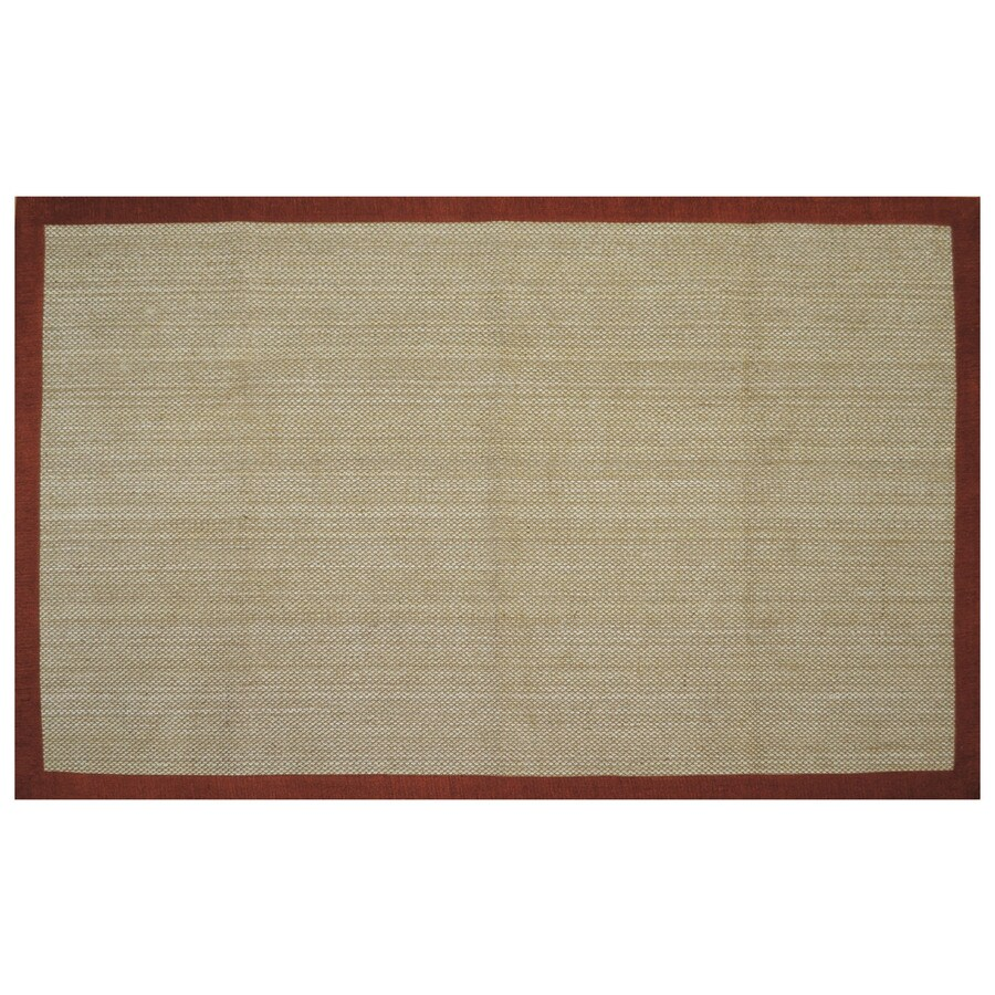 allen + roth Northbridge Tropical Red Rectangular Indoor Woven Area Rug (Common: 5 x 8; Actual: 5-ft W x 7.75-ft L)