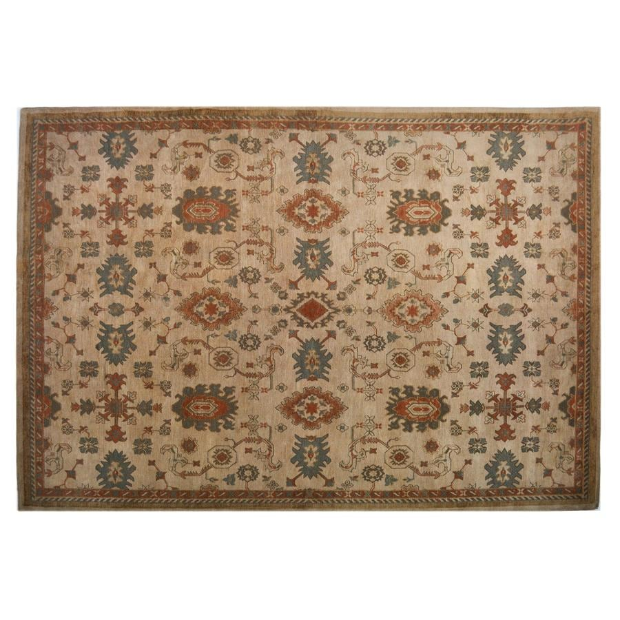 allen + roth Marinella 8-ft x 10-ft 6-in Rectangular Beige Transitional Area Rug