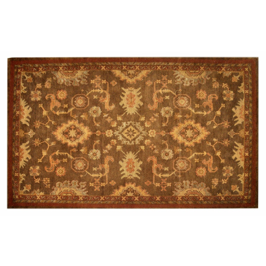 allen + roth Marinella 5-ft x 7-ft 9-in Rectangular Tan Transitional Area Rug
