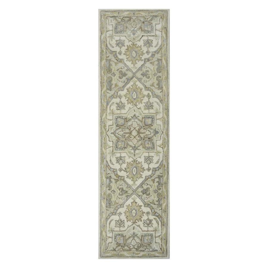 Allen Roth Brookford Ivory Soft Green Indoor Handcrafted