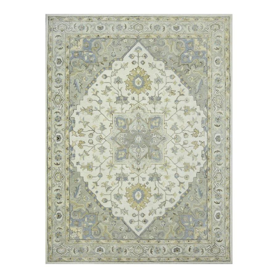 Allen Roth Brookford Soft Green Ivory Indoor Handcrafted