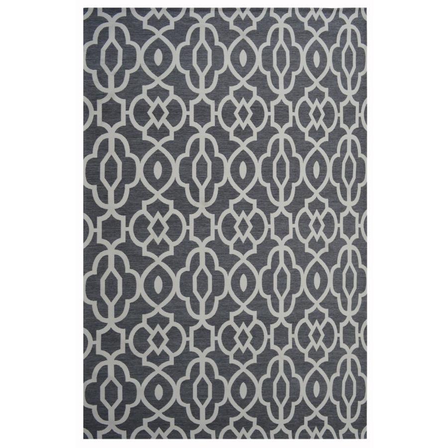 Grey Rectangular Indoor/Outdoor  Novelty Area Rug (Common: 7 x 10; Actual: 7-ft W x 10-ft L)