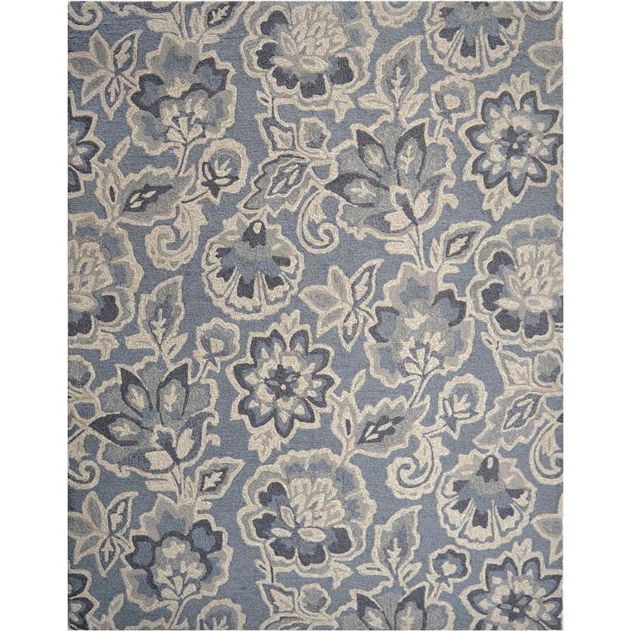 Allen Roth Milano Natural Grey Rectangular Indoor