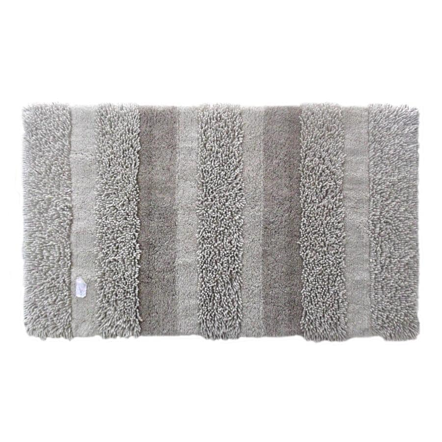 allen + roth Beige Rectangular Indoor Tufted Throw Rug (Common: 2 x 4; Actual: 30-in W x 50-in L)