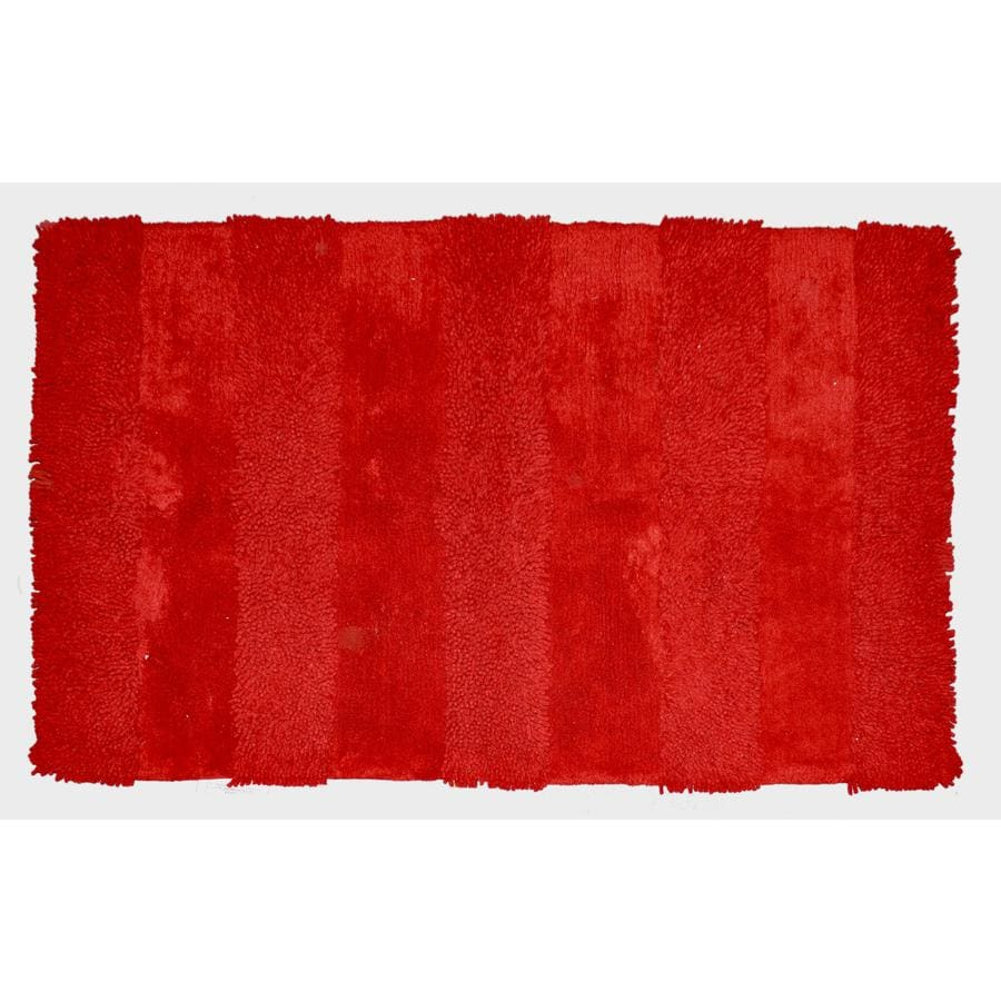 allen + roth Red Rectangular Indoor Tufted Throw Rug (Common: 2 x 4; Actual: 2.5-ft W x 4.17-ft L)