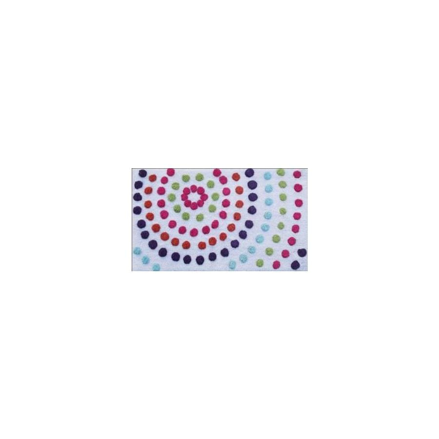 "Style Selections 34"" x 20"" Multicolor Cotton Bath Rug"