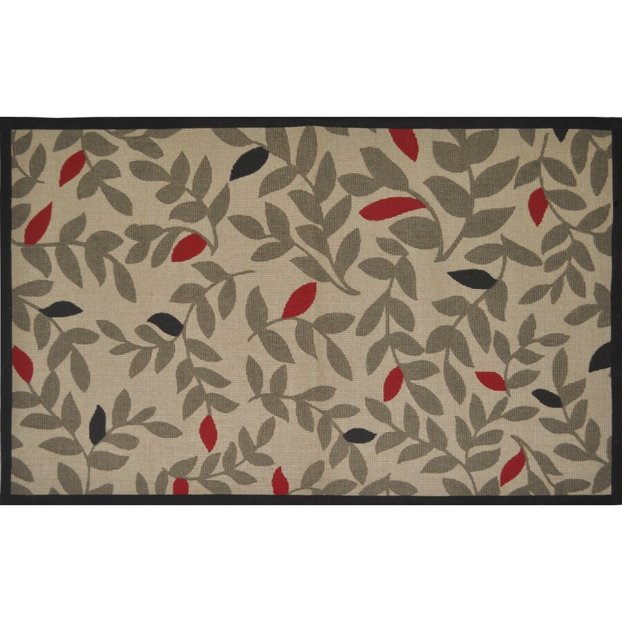 Style Selections Multicolor Rectangular Indoor Woven Throw Rug (Common: 2 x 4; Actual: 30-in W x 50-in L)