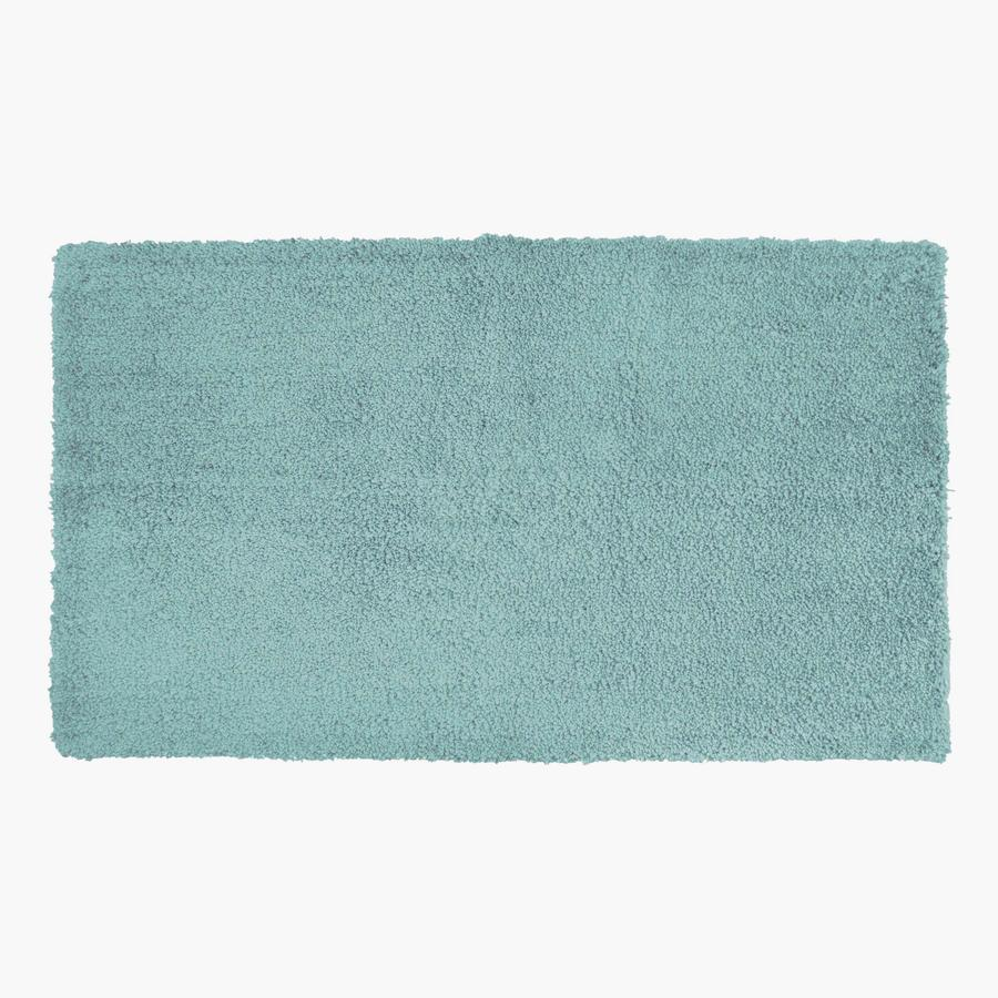 Aqua bathroom rugs - Allen Roth 20 In X 34 In Aqua Polyester Bath Rug