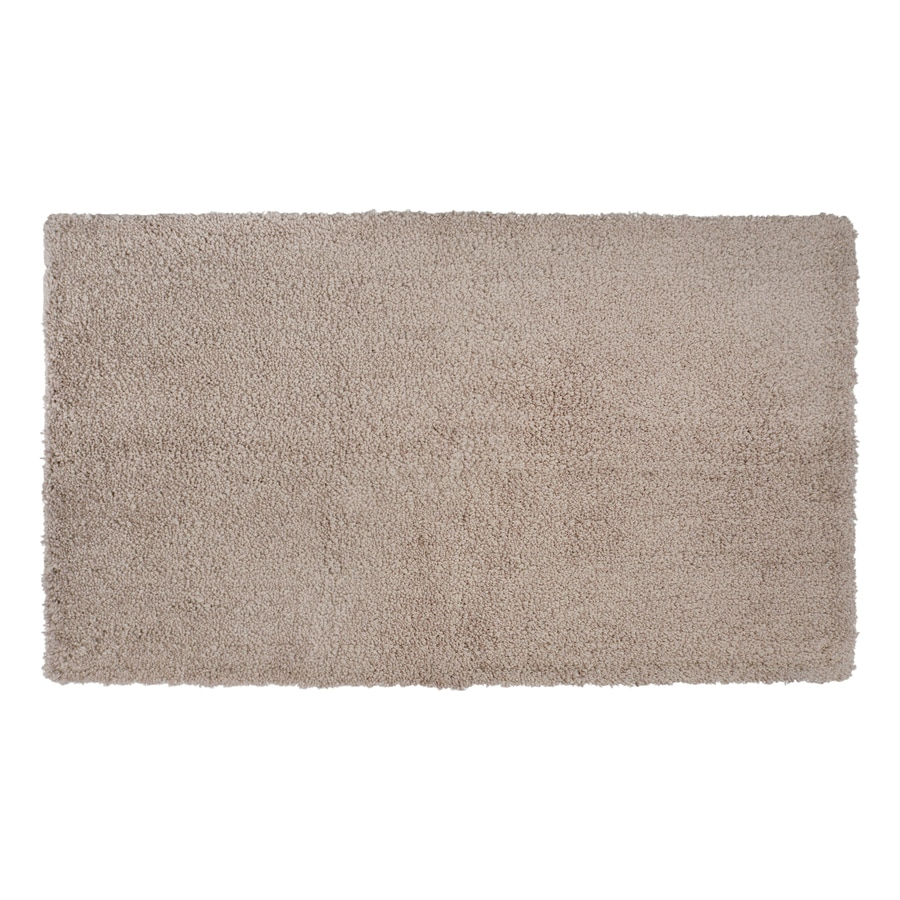 Tan Bathroom Rugs Shop Allen Roth 20 In X 34 In Tan Polyester Bath Rug At Lowescom