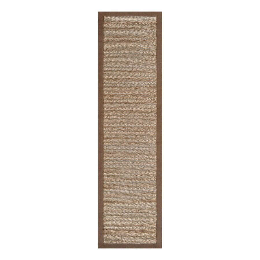 allen + roth Latte Rectangular Indoor Braided Runner (Common: 2 x 8; Actual: 2-ft W x 8-ft L)