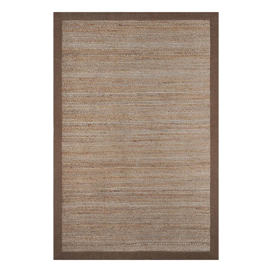 allen + roth Latte Rectangular Indoor Braided Area Rug (Common: 5 x 8; Actual: 60-in W x 90-in L)