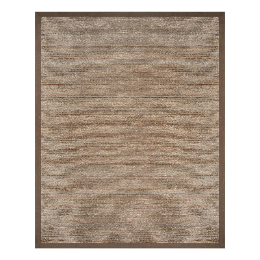 allen + roth Latte Rectangular Indoor Braided Area Rug (Common: 8 x 10; Actual: 96-in W x 120-in L)