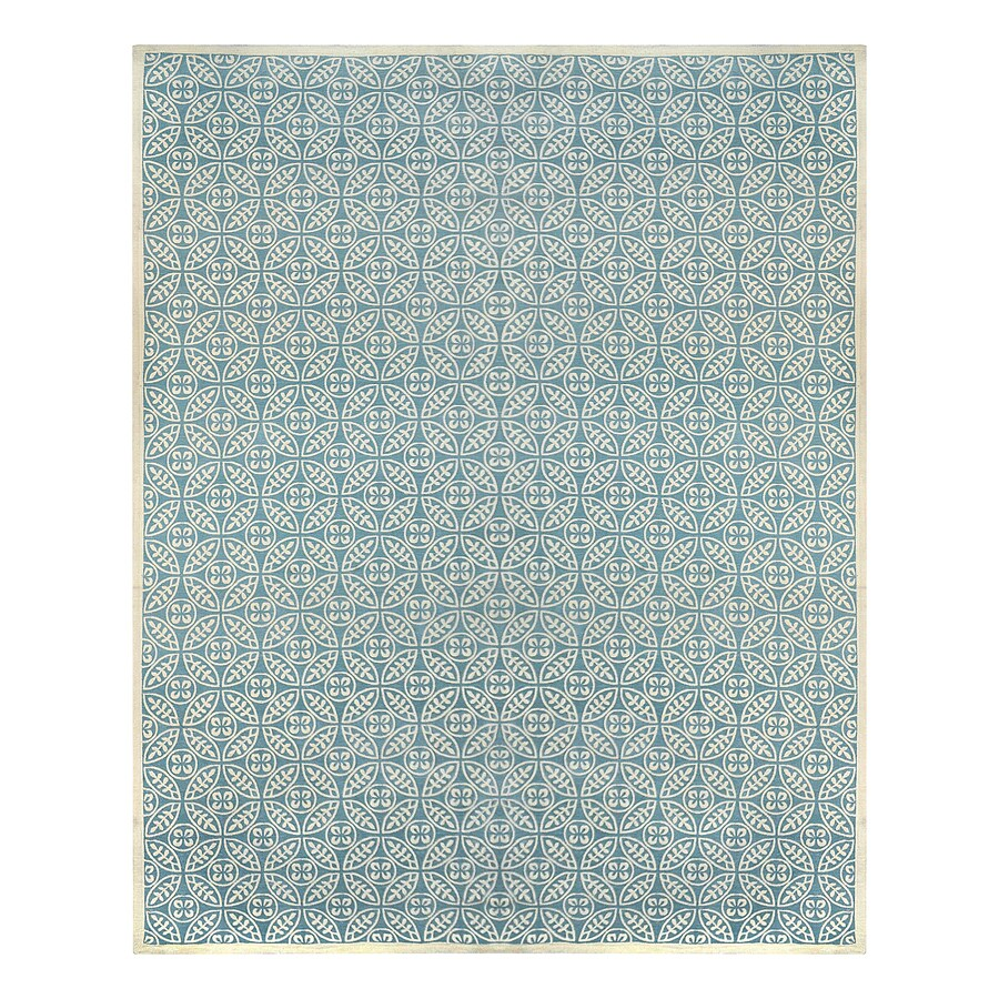 Shop Allen Roth Blue Rectangular Indoor Woven Area Rug