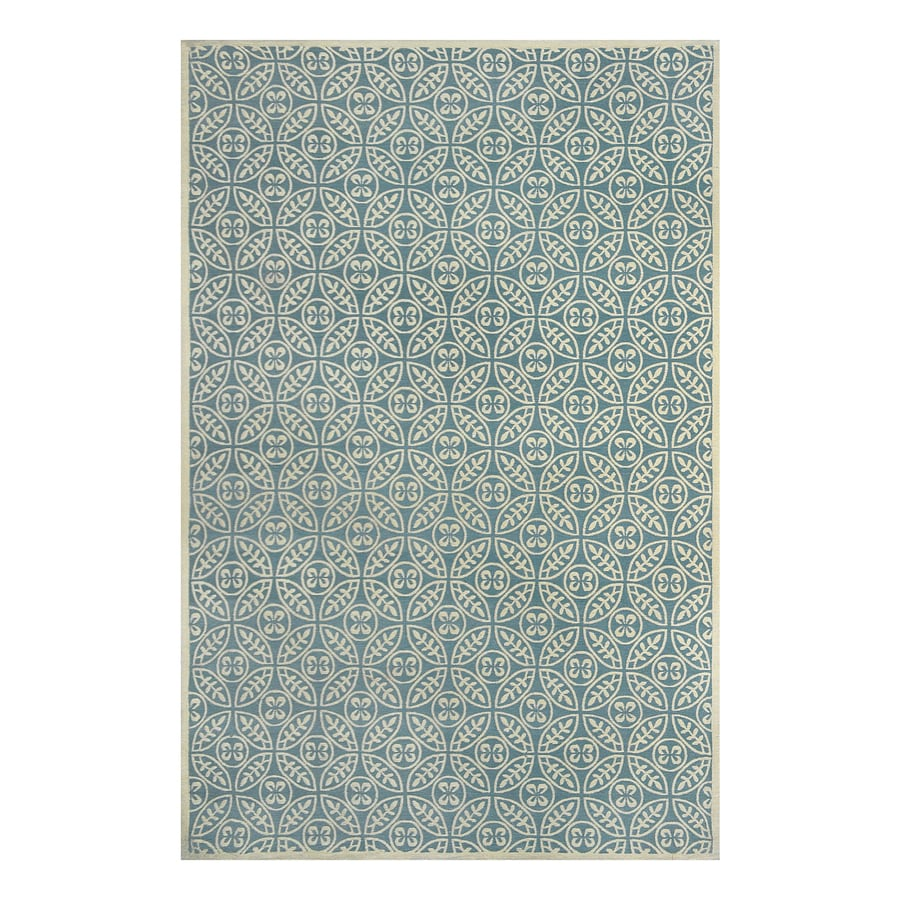 allen + roth Blue Rectangular Indoor Woven Area Rug (Common: 5 x 8; Actual: 5-ft W x 7.5-ft L)