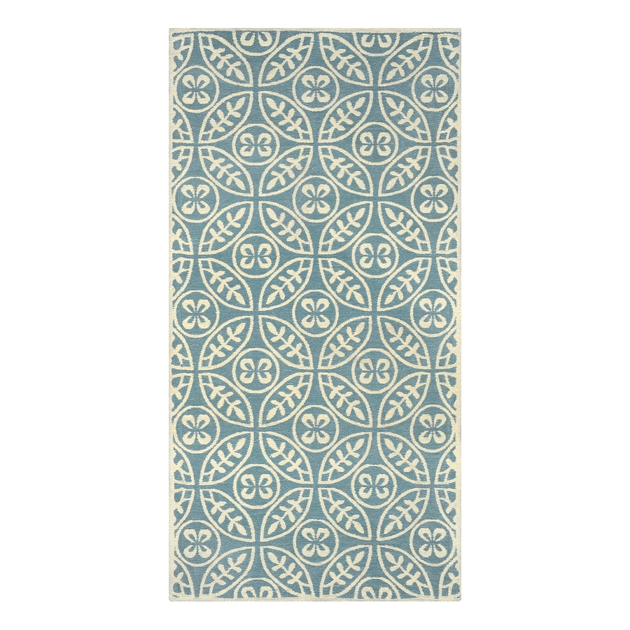 allen + roth Blue Rectangular Indoor Machine-Made Throw Rug (Common: 2 x 4; Actual: 2-ft W x 4-ft L)