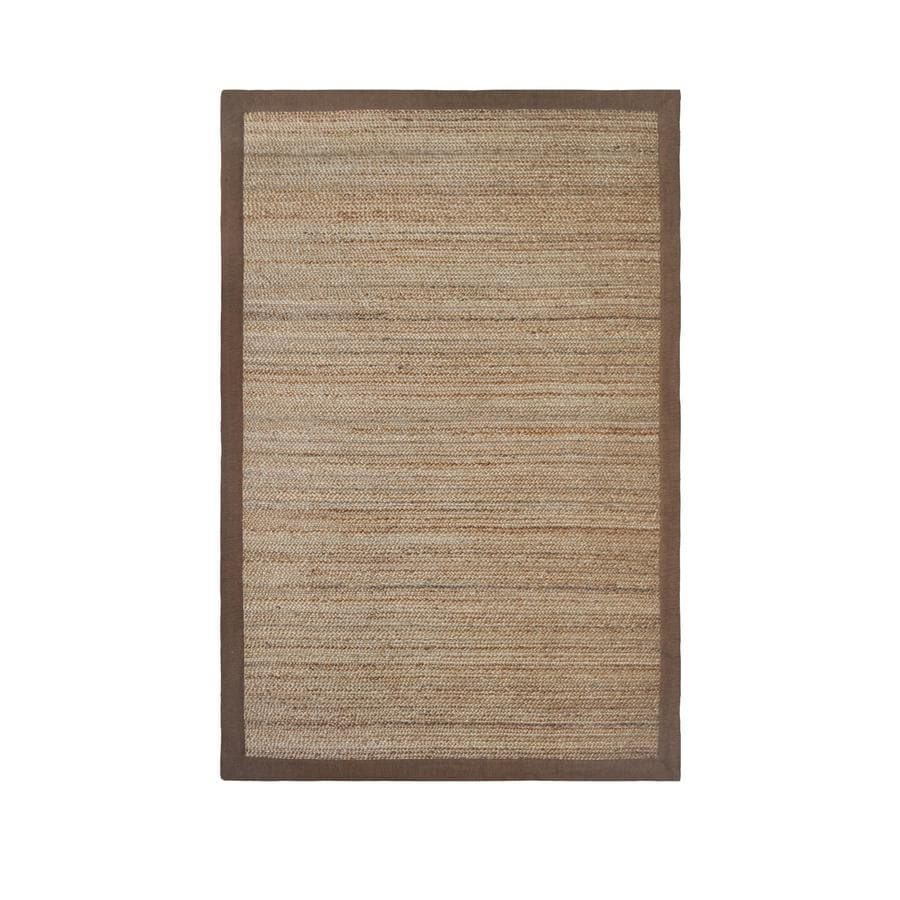 allen + roth Witham Latte Rectangular Indoor Braided Area Rug (Common: 9 x 12; Actual: 9-ft W x 12-ft L)