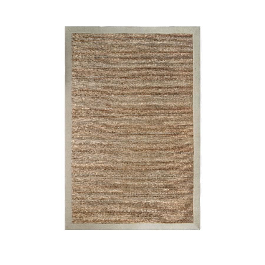 allen + roth Witham Straw Rectangular Indoor Braided Area Rug (Common: 8 x 10; Actual: 96-in W x 120-in L)