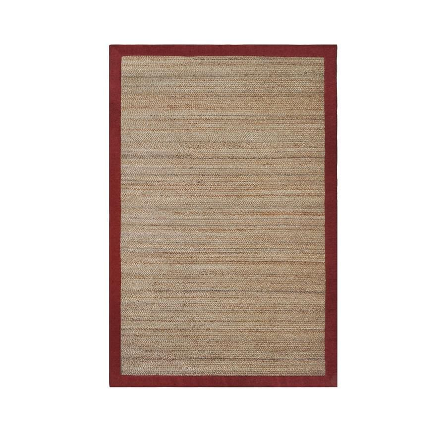 allen + roth Witham Red Rectangular Indoor Braided Area Rug (Common: 8 x 10; Actual: 8-ft W x 10-ft L)