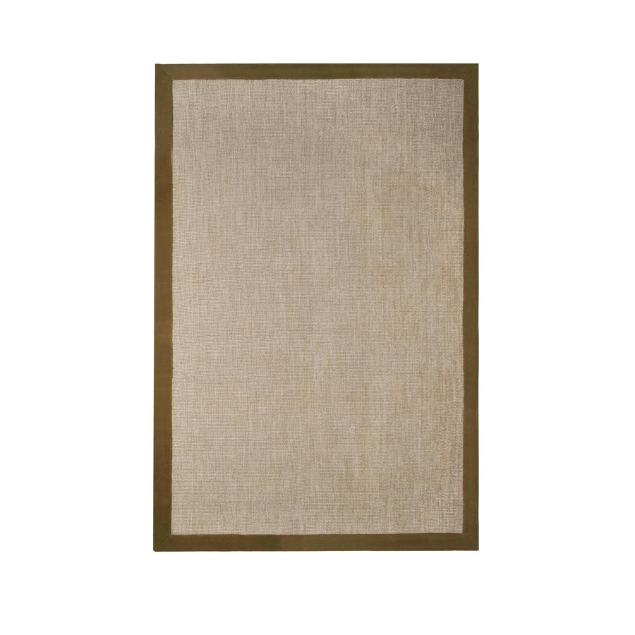 allen + roth Nacton Mocha Rectangular Indoor Woven Area Rug (Common: 8 x 10; Actual: 8-ft W x 10-ft L)