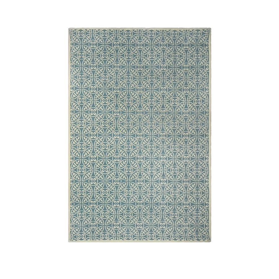 allen + roth Maysburg Blue Rectangular Indoor Machine-Made Area Rug (Common: 9 x 12; Actual: 9-ft W x 12-ft L)