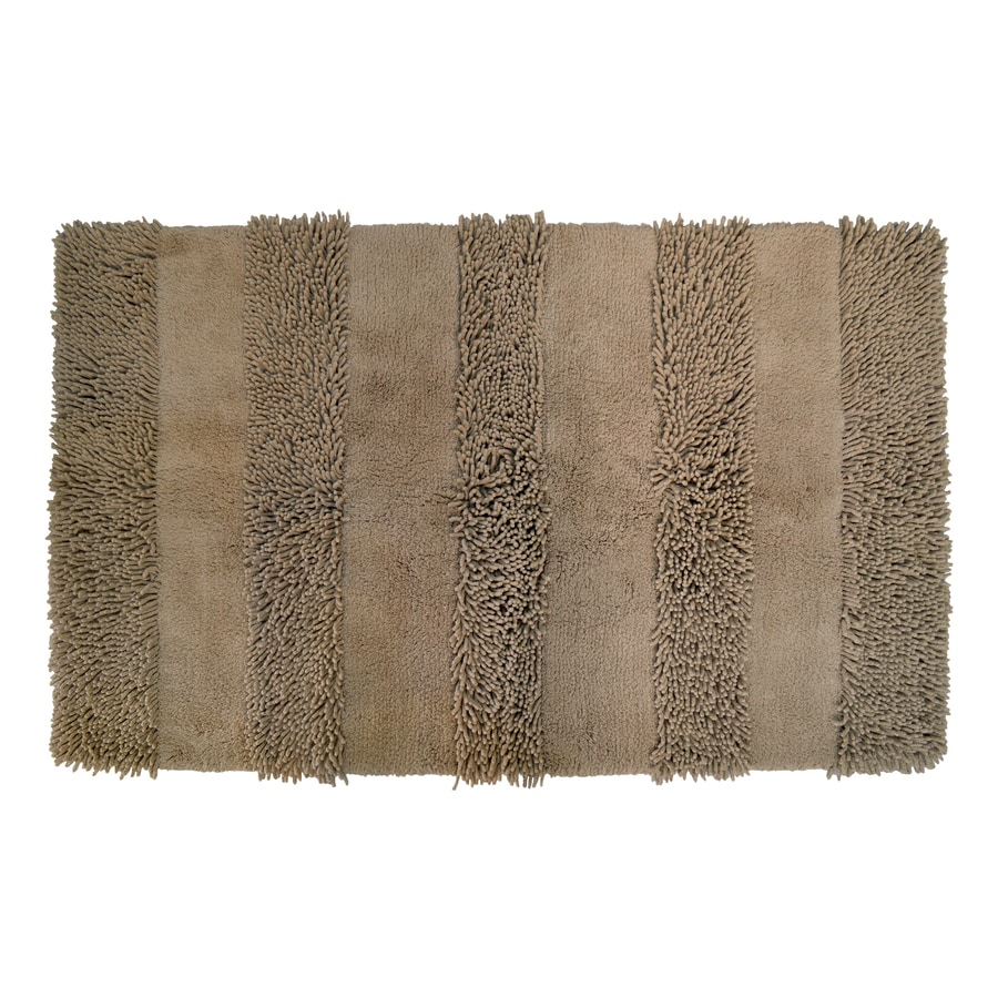 allen + roth Brown Rectangular Indoor Tufted Throw Rug (Common: 2 x 4; Actual: 2.5-ft W x 4.17-ft L)
