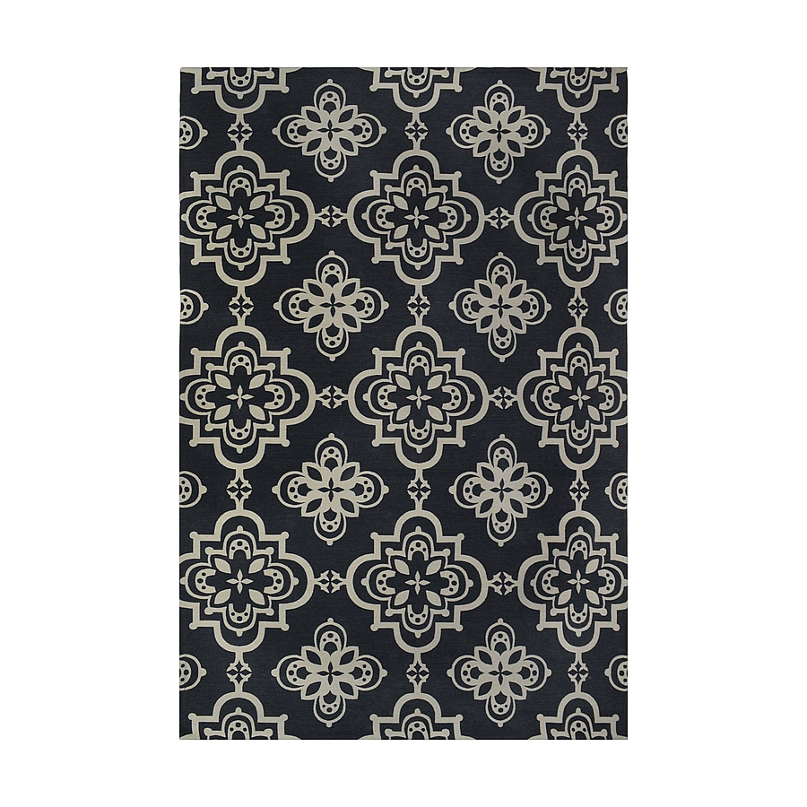 Style Selections Blue Rectangular Indoor Woven Area Rug (Common: 5 x 8; Actual: 60-in W x 90-in L)