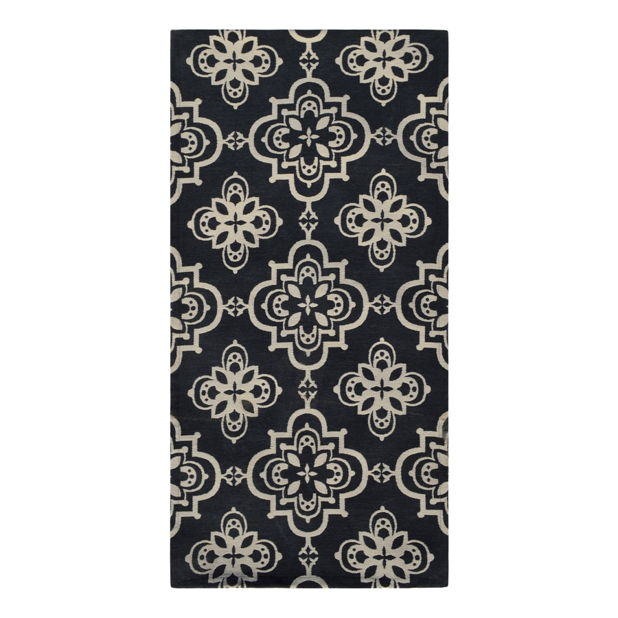 Style Selections Blue Rectangular Indoor Woven Throw Rug (Common: 2 x 4; Actual: 2-ft W x 4-ft L)