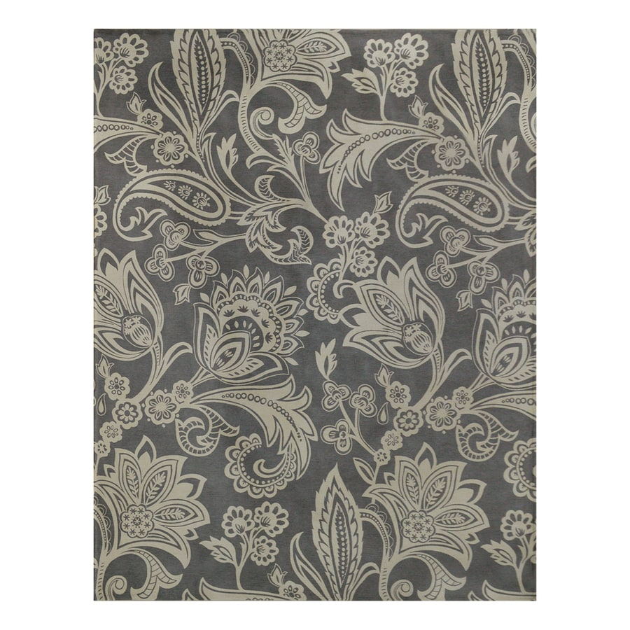 allen + roth Gray Rectangular Indoor Woven Area Rug (Common: 8 x 10; Actual: 96-in W x 120-in L)