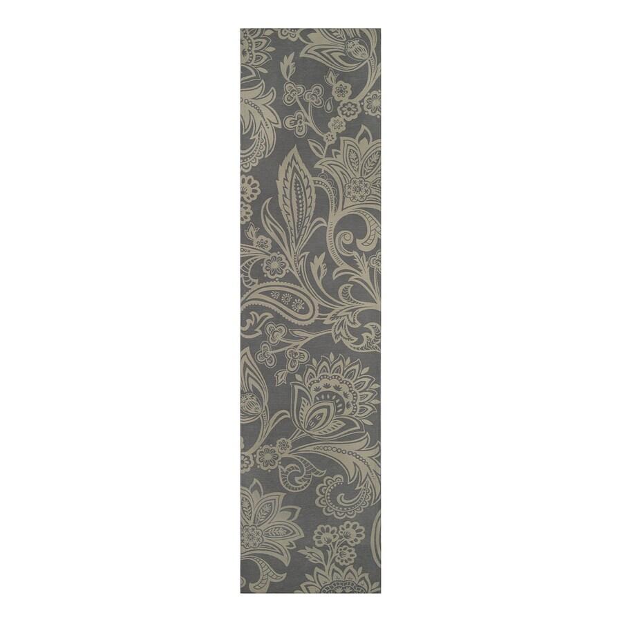 allen + roth Gray Rectangular Indoor Woven Runner (Common: 2 x 8; Actual: 2-ft W x 8-ft L)