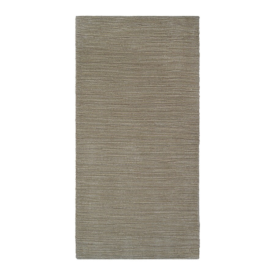 allen + roth Oatmeal Rectangular Indoor Handcrafted Throw Rug (Common: 2 x 4; Actual: 2-ft W x 4-ft L)