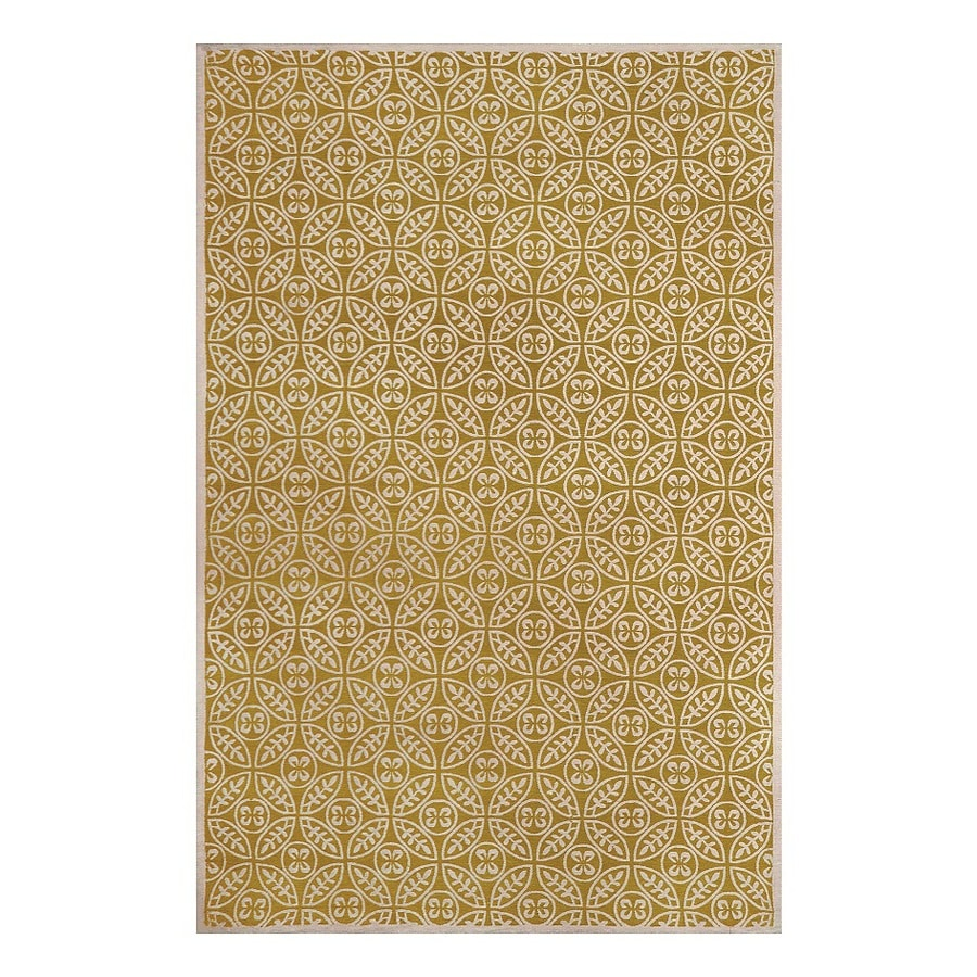 allen + roth Maysburg Gold Rectangular Indoor Machine-Made Area Rug (Common: 5 x 8; Actual: 5-ft W x 7.5-ft L)