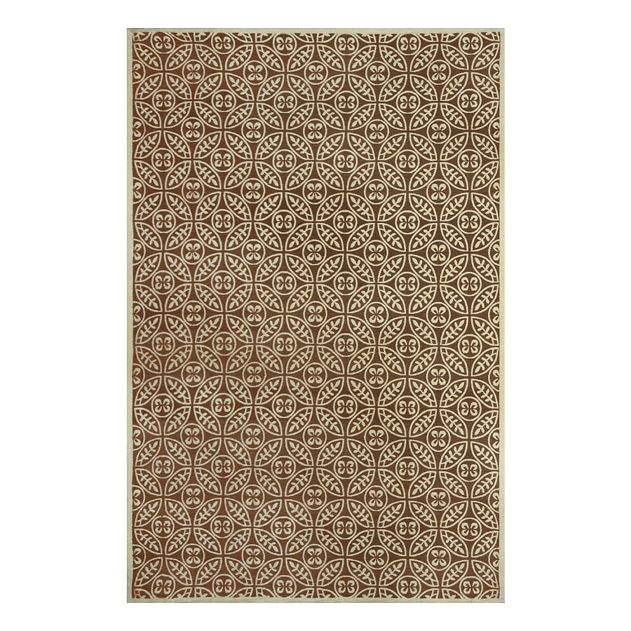 allen + roth Maysburg Taupe Rectangular Indoor Machine-Made Area Rug (Common: 5 x 8; Actual: 5-ft W x 7.5-ft L)