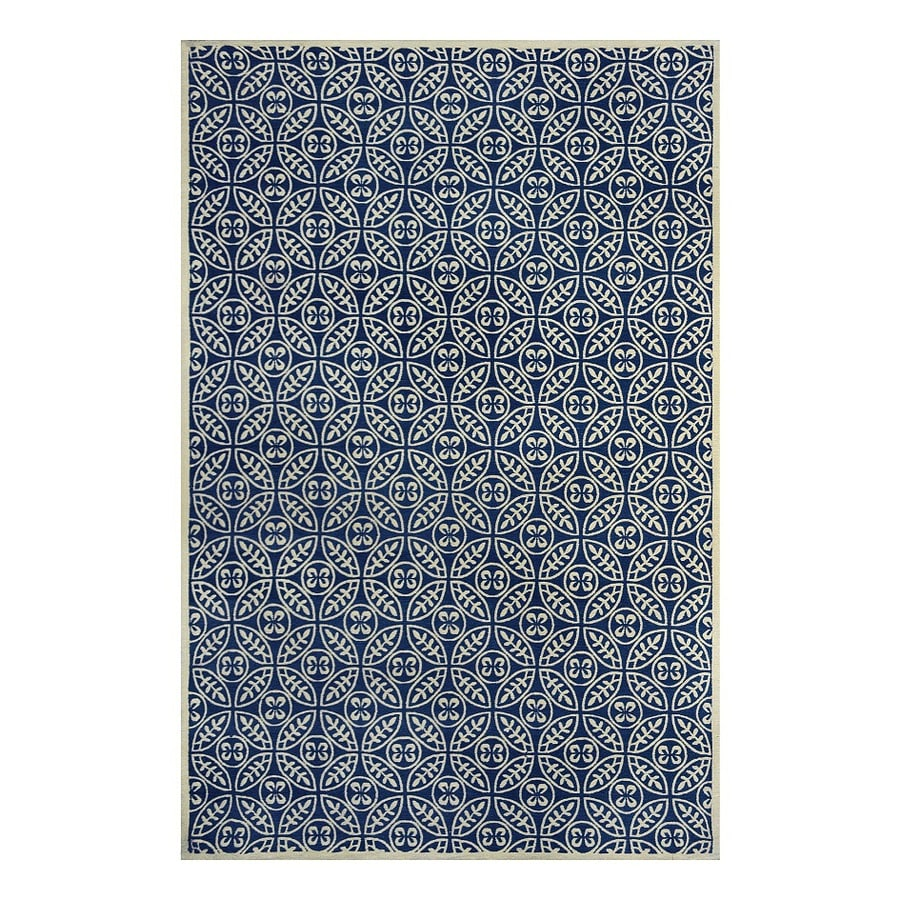 allen + roth Maysburg Navy Rectangular Indoor Machine-Made Area Rug (Common: 8 x 10; Actual: 8-ft W x 10-ft L)