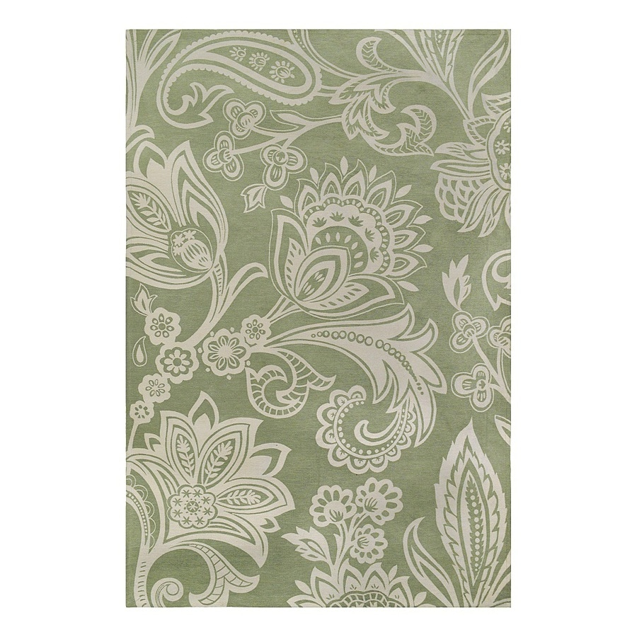 allen + roth Ellesmore Swamp Rectangular Indoor Woven Area Rug (Common: 9 x 12; Actual: 9-ft W x 12-ft L)