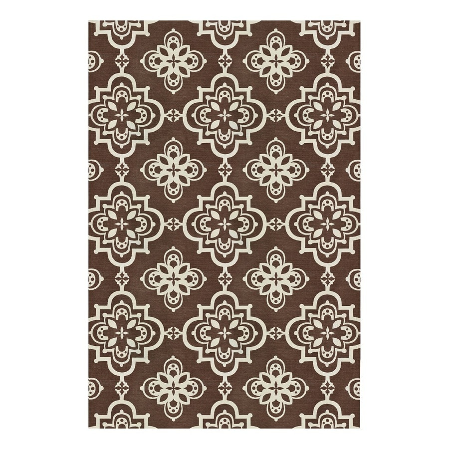 allen + roth Gaines Stone Rectangular Indoor Woven Area Rug (Common: 8 x 10; Actual: 96-in W x 120-in L)