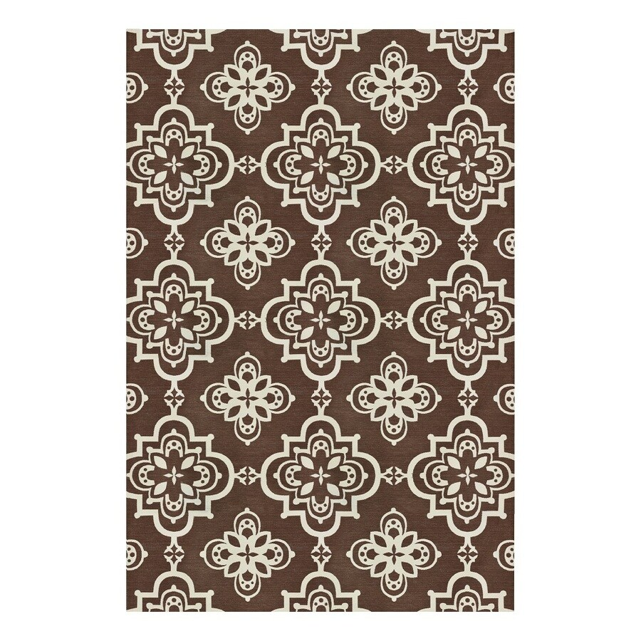allen + roth Gaines Stone Rectangular Indoor Woven Area Rug (Common: 8 x 10; Actual: 8-ft W x 10-ft L)