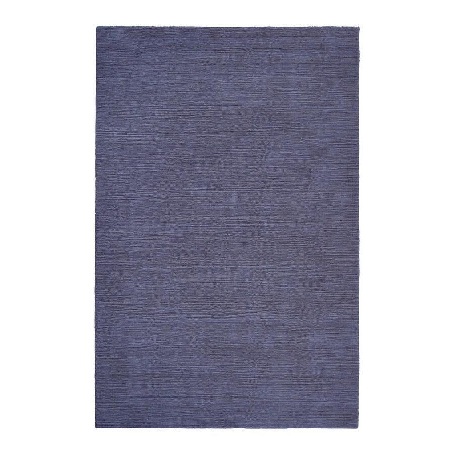 allen + roth Monteith Indigo Rectangular Indoor Handcrafted Area Rug (Common: 8 x 10; Actual: 8-ft W x 10-ft L)