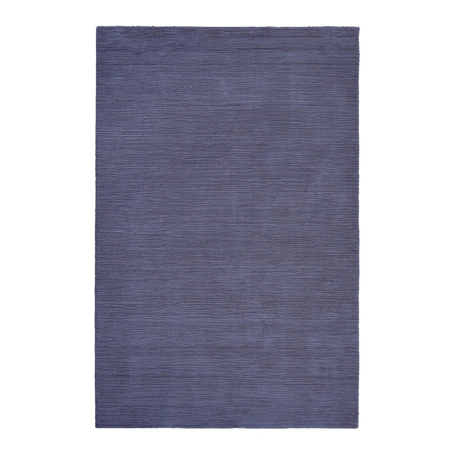 allen + roth Monteith Indigo Rectangular Indoor Woven Area Rug (Common: 9 x 12; Actual: 9-ft W x 12-ft L)